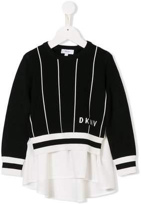 DKNY logo knit layered top