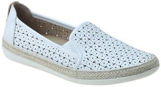 Kim White Flat Shoe