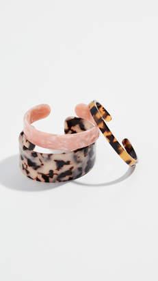Shashi Lucite Cuff Set