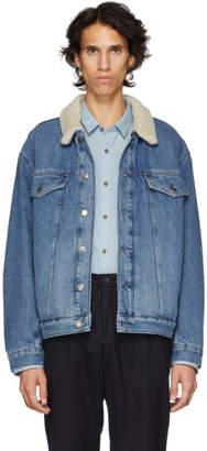 HUGO Blue Sherpa Denim Jacket