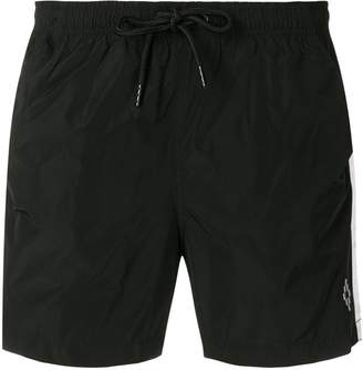 Marcelo Burlon County of Milan stripe drawstring shorts