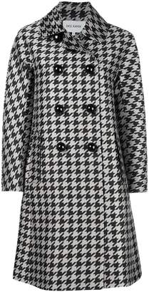Dice Kayek double breasted houndstooth coat