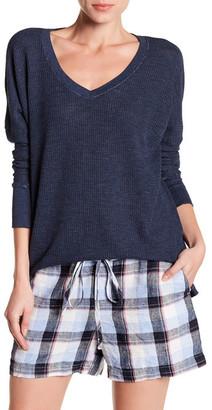 Allen Allen V-Neck Thermal Knit Sweater $88 thestylecure.com