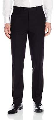 Adolfo Men's Micro Tech Slim Fit Flat Front Suit Pant