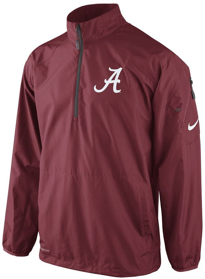Nike alabama crimson tide lockdown 1/2-zip performance jacket - men