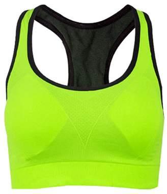 XIAFEIMANTIAN Sports-bras Xiafeimantian Women Absorb Sweat Vest Sports Gym Shaped Bra Back Wireless Sports Bra