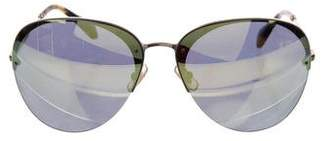 Miu Miu Rimless Mirrored Sunglasses