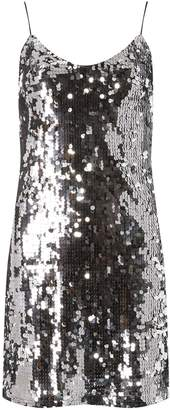 Dorothy Perkins Womens **Silver Sequin Slip Dress