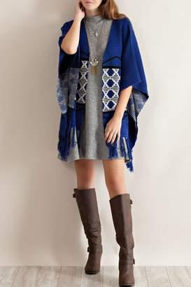 Entro Blue Kimono Sweater