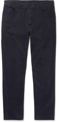 James Perse Slim-Fit Brushed Stretch-Cotton Twill Trousers