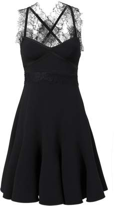 Giambattista Valli Lace-Trimmed Crepe Dress
