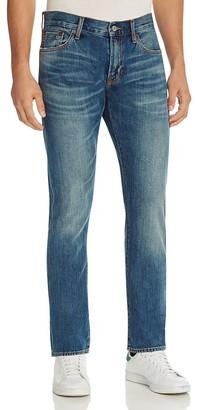 Jean Shop Mick Slim Fit Jeans in Medium Blue $195 thestylecure.com