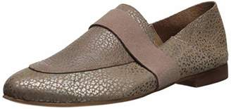 Kaanas Women's Amalfi Metallic Leather Loafer Flat Slip ON Shoe
