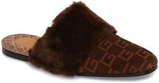 Gucci Square-G Faux Fur Slipper
