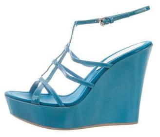 Gianvito Rossi Patent Leather Wedge Sandals