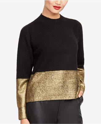 Rachel Roy Metallic-Trim Sweater