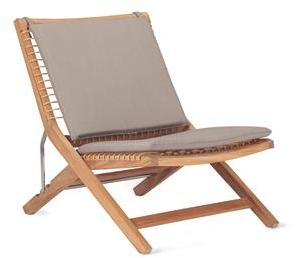 Alden Adjustable Folding Chair Sunbrella® Cushion