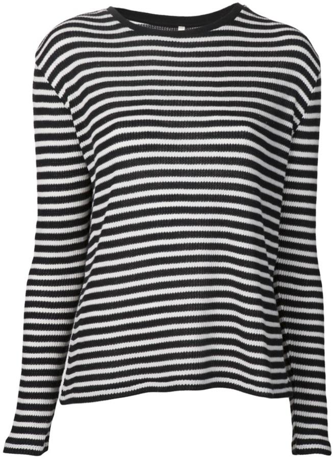 R13 striped thermal t-shirt