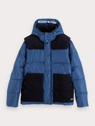 Scotch\U0020\U0026\U0020soda Mixed Puffer Jacket