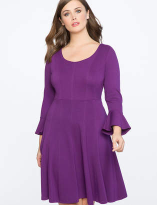 Fit and Flare Seam Detail Dress