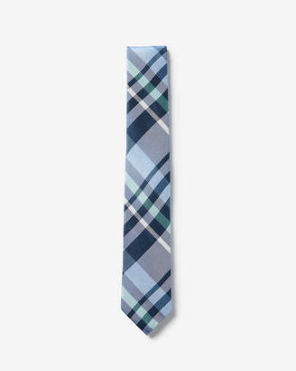 Express Plaid Silk Narrow Tie