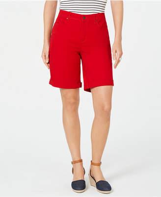 Charter Club Petite Tummy-Control Cuffed Bermuda Shorts