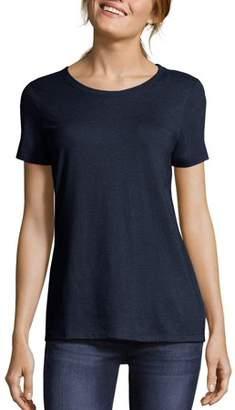 Hanes Women's Modal Triblend Short Sleeve Scoopneck Tee