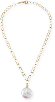 Dina Mackney Pearly Coin Pendant Necklace