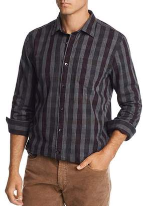 Bloomingdale's The Men's Store at Brushed-Flannel Plaid Classic Fit Button-Down Shirt - 100% Exclusive