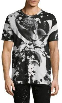 HUGO Diced Flower Cotton Tee