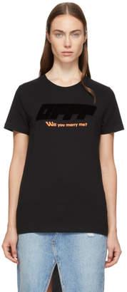 Off-White Black Modern Obstacles T-Shirt