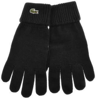 Lacoste Merino Wool Gloves Black
