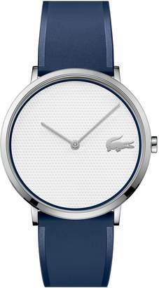 Lacoste Men's Moon Ultra Slim Watch Golf Capsule with Blue Silicone Strap
