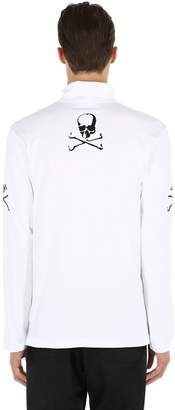 Skull High Collar Long Sleeve T-Shirt