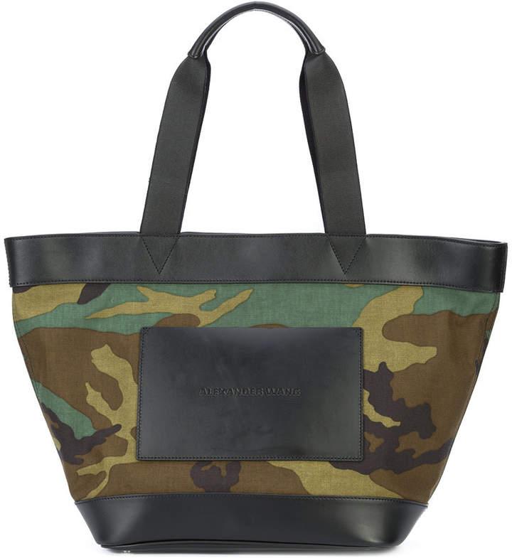 Alexander Wang embossed logo camouflage tote