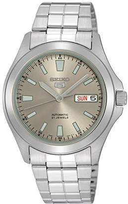 Seiko Men's SNKL03 Stainless Steel Analog with Grey Dial Watch