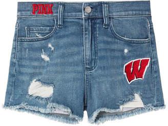 PINK University of Wisconsin High-Waist Denim Short
