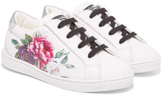 Dolce & Gabbana Sizes 24 - 28 Floral-print Leather Sneakers