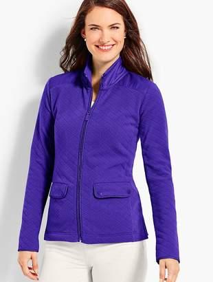 Talbots Diamond-Textured Fleece Jacket