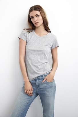 Velvet by Graham & Spencer ODELIA COTTON SLUB CREW NECK TEE