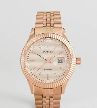 c33e7abb2cb7 Sekonda Bracelet Watch In Rose Gold Exclusive To ASOS