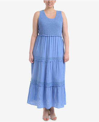 NY Collection Plus Size Tiered Maxi Dress