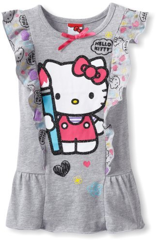Hello Kitty Girls 2-6x Short Sleeve T...
