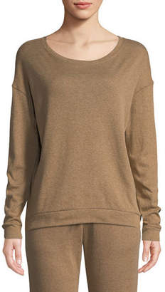 Neiman Marcus Majestic Paris for Cotton-Cashmere Crewneck Pullover Sweater