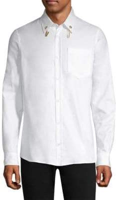 Versus By Versace Hanging Charms Button-Down Shirt