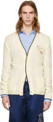 Gucci White Wool Elephant Cardigan