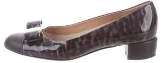 Salvatore Ferragamo Patent Leather Cap Toe Pumps