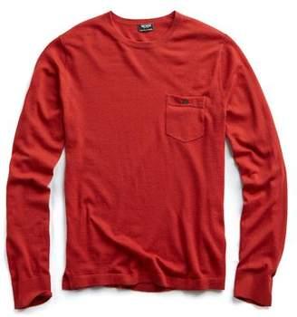 Todd Snyder Cashmere T-Shirt Sweater in Burnt Orange