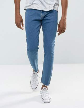 ONLY & SONS Skinny Jeans with Raw Edge