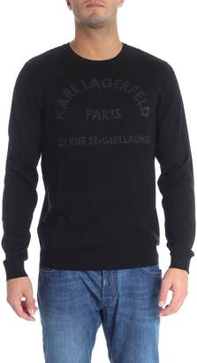 Karl Lagerfeld Logo Wool Sweater
